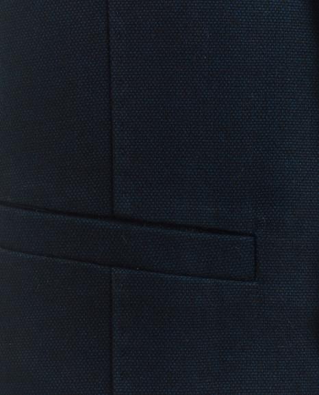Синий твидовый жилет