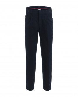 Blue tweed trousers Gulliver