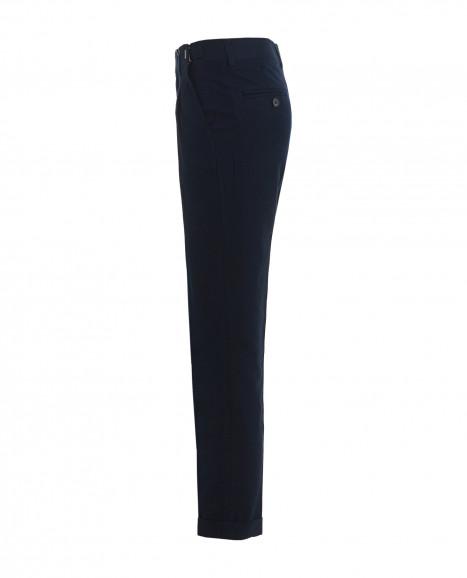 Синие твидовые брюки