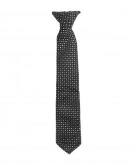 Черный галстук на клипсе Gulliver