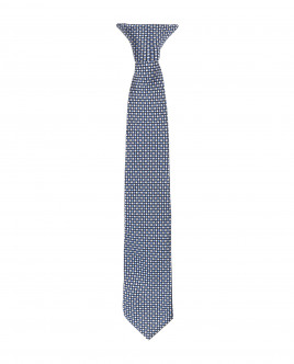 Синий галстук на клипсе Gulliver