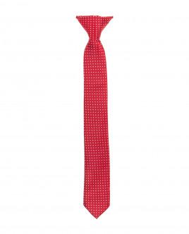 Красный галстук на клипсе Gulliver