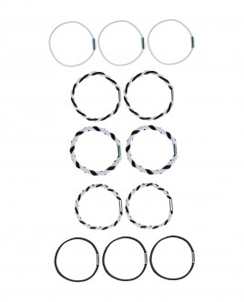 Hair tie set, 12 pcs Gulliver