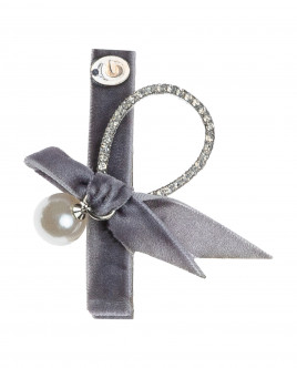 Hairpin with grey bow Gulliver