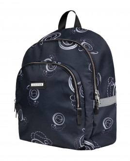 Black printed backpack Gulliver