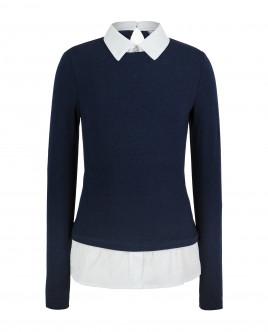 Купить 219GSGC1204, Синяя футболка с имитацией многослойности Gulliver, Gulliver Wear, синий, 134, Женский