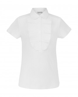 White short sleeve polo shirt Gulliver