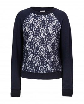 Blue lace sweatshirt Gulliver