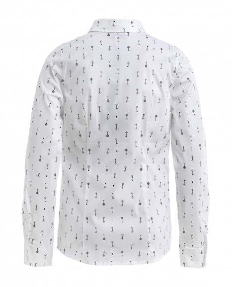 "Белая блузка с орнаментом ""Ключи"""