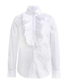 White blouse with flounce Gulliver