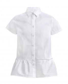 Купить со скидкой Белая блузка с баской