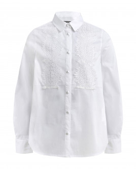White blouse with white lace Gulliver