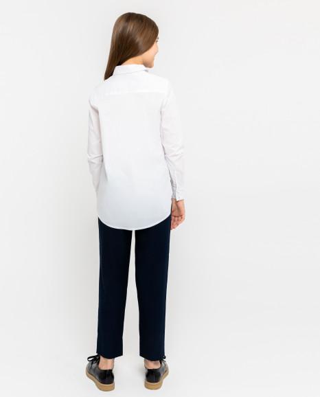 Белая блузка с белым кружевом