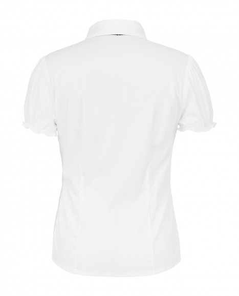 Белая приталенная блузка Gulliver