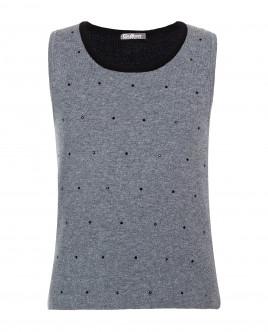 Grey knitted vest Gulliver