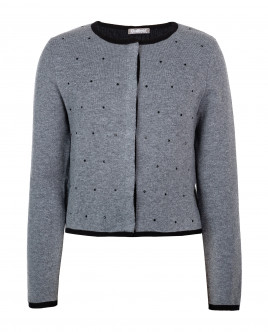 Grey knitted cardigan Gulliver