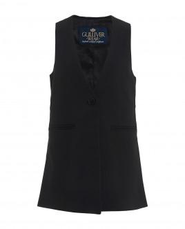 Elongated black vest Gulliver