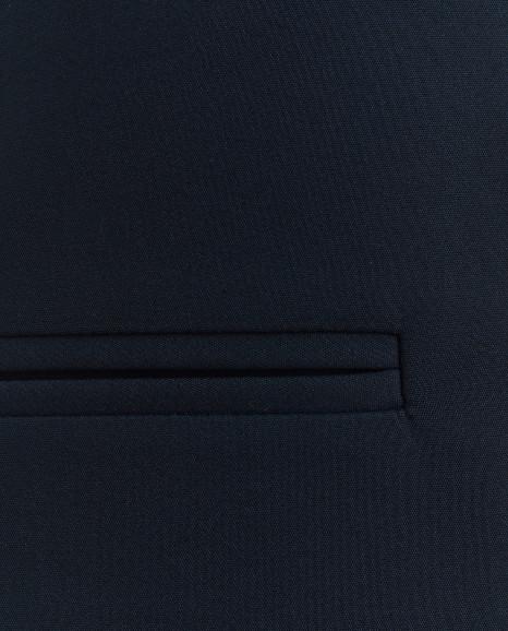 Удлиненный синий жилет