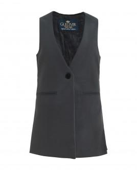 Elongated grey vest Gulliver