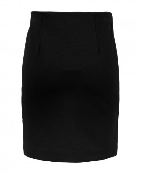 Черная узкая юбка