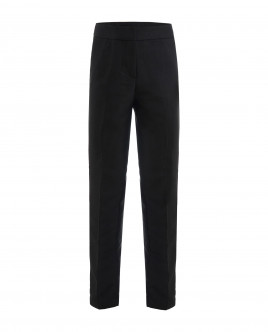 Black trousers with side stripes Gulliver