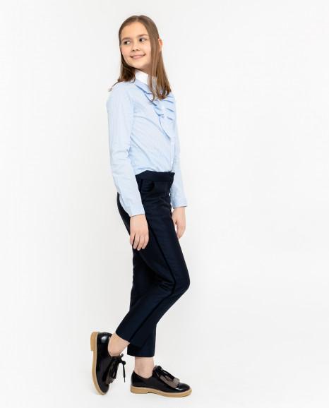 Синие брюки с лампасами
