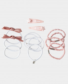 Розовый набор базовых заколок Gulliver