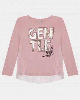 Розовая футболка с длинным рукавом Gulliver