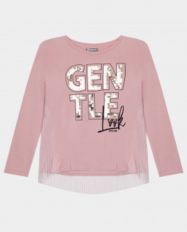 Розовая футболка с длинным рукавом Gulliver Gulliver