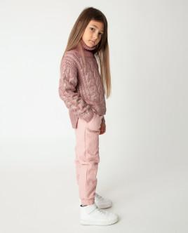 Розовый свитер теплый Gulliver