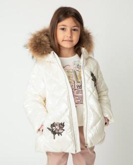 Белая куртка зимняя Gulliver