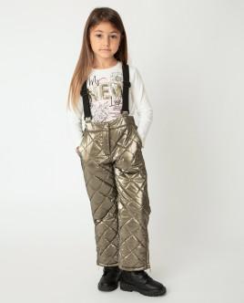 Бронзовые брюки утепленные зимние Gulliver