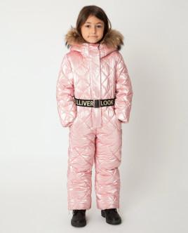 Розовый комбинезон зимний Gulliver