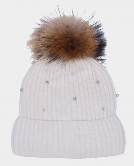 Белая шапка вязаная на подкладке Gulliver Gulliver Wear 22001GMC7306 белого цвета