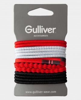 Набор базовых резинок для волос Gulliver Gulliver Wear 22002GMA1101 красного цвета