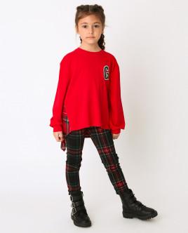 Красная футболка с длинным рукавом Gulliver