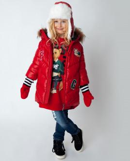 Красное пальто зимнее Gulliver Gulliver