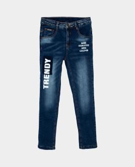 Голубые джинсы утепленные