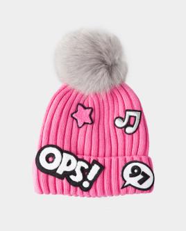 Розовая зимняя шапка Gulliver Gulliver