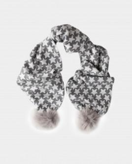 Серый вязаный шарф Gulliver Gulliver