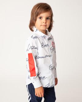 Белая рубашка с длинным рукавом Gulliver Gulliver