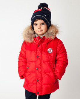 Красная куртка зимняя Gulliver