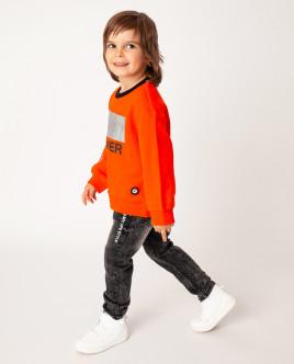 Купить 22006BMC1601, Оранжевая толстовка, Gulliver Wear, оранжевый, 104, Мужской