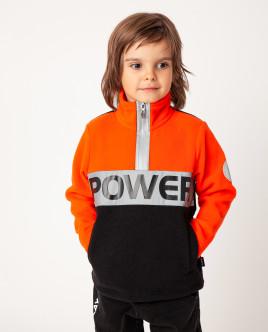 Флисовая толстовка с принтом Gulliver Gulliver Wear 22006BMC1603 оранжевого цвета