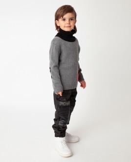 Черные брюки утепленные демисезонные Gulliver