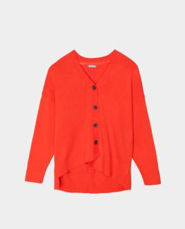 Оранжевый кардиган тонкий Gulliver Gulliver Wear 22008GJC3502 оранжевого цвета