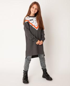 Серое платье Gulliver Gulliver Wear 22008GJC5005 серого цвета