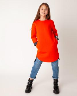 Оранжевое платье Gulliver Gulliver Wear 22008GJC5006 оранжевого цвета