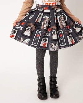 Серая юбка с принтом Gulliver Gulliver