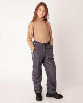 Купить 22008GJC6406, Серые брюки утепленные демисезонные, Gulliver Wear, серый, 140, Женский